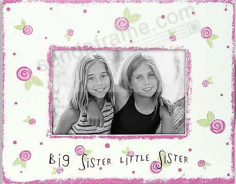 BIG SISTER / LITTLE SISTER<br>painted keepsake by Malden - Picture ...