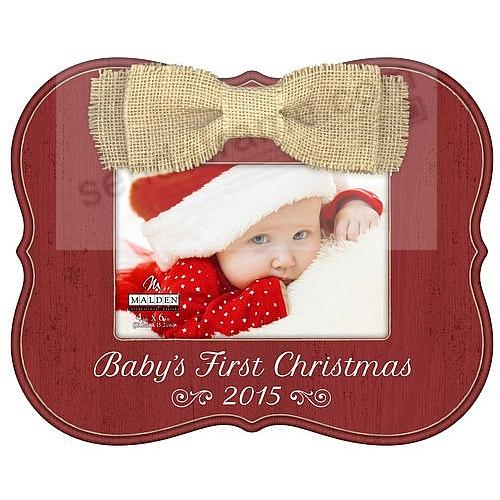 Babys First Christmas Bow 2015 Frame By Malden Design Picture