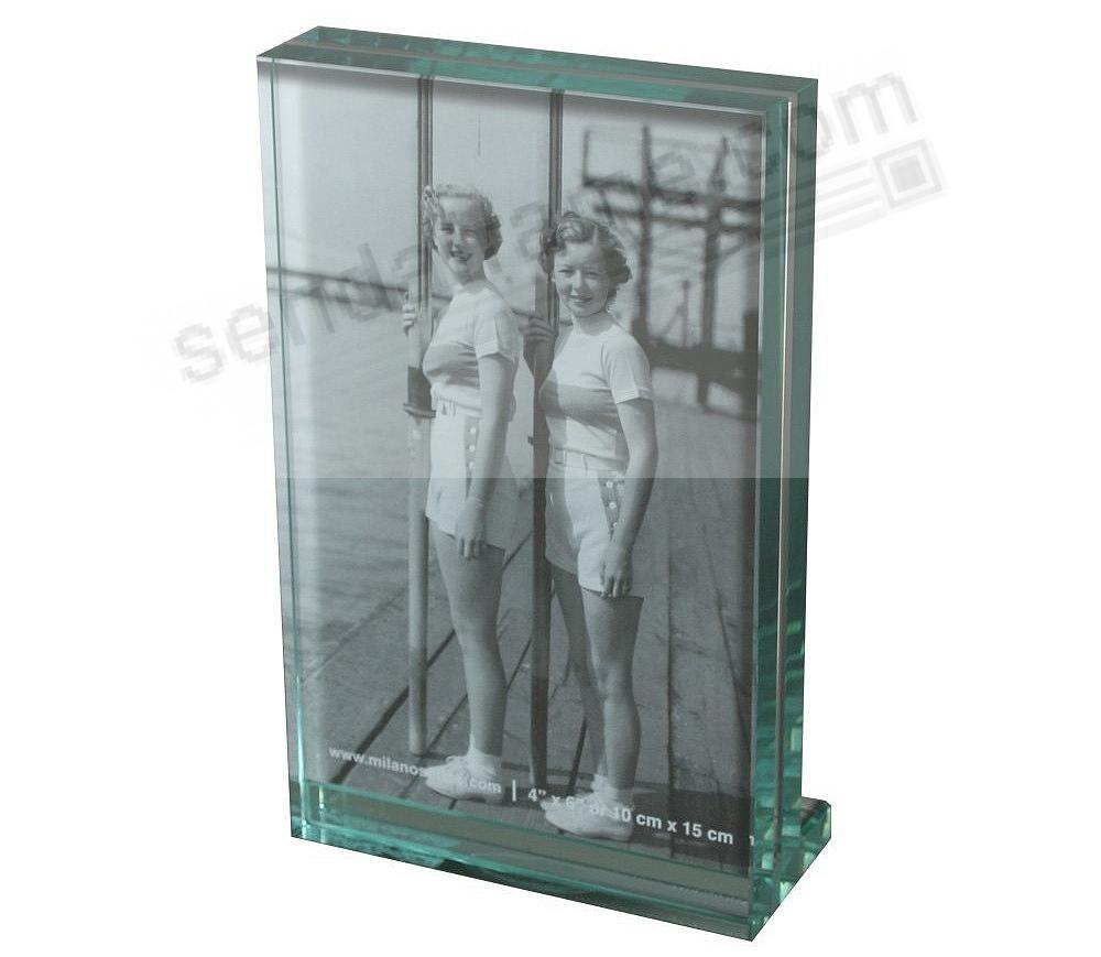 Clarity glass block portrait 4x6 frame by milano series for Glass block window frame
