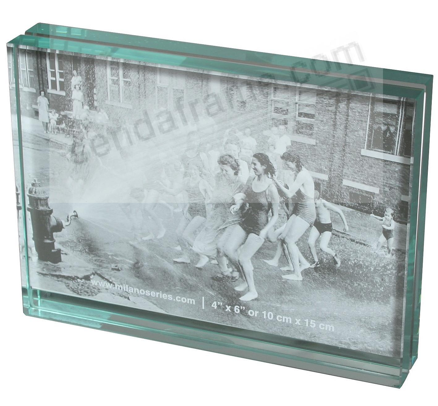CLARITY glass block 4x6 landscape frame by Milano Series - Picture ...