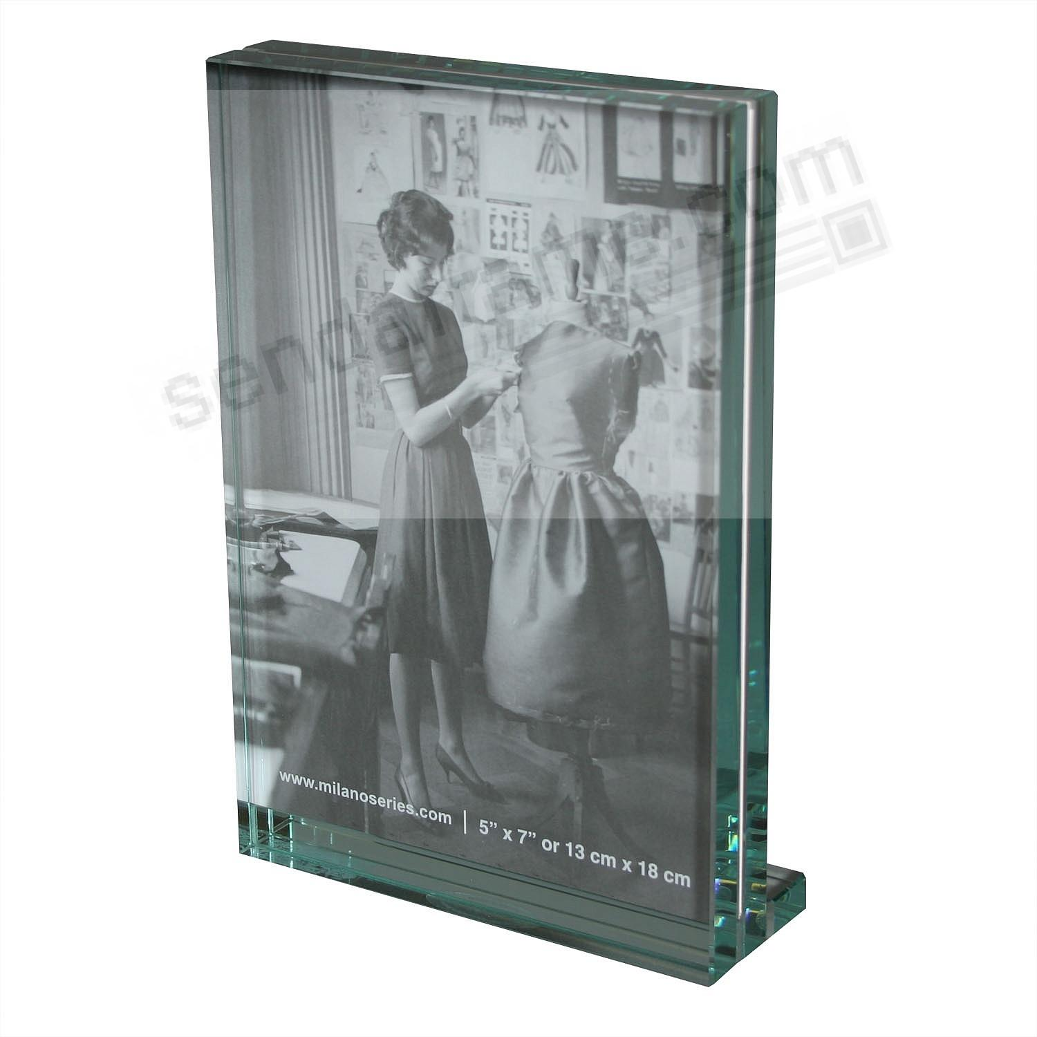 Clarity Glass Block Frame By Milano Series Picture Frames Photo