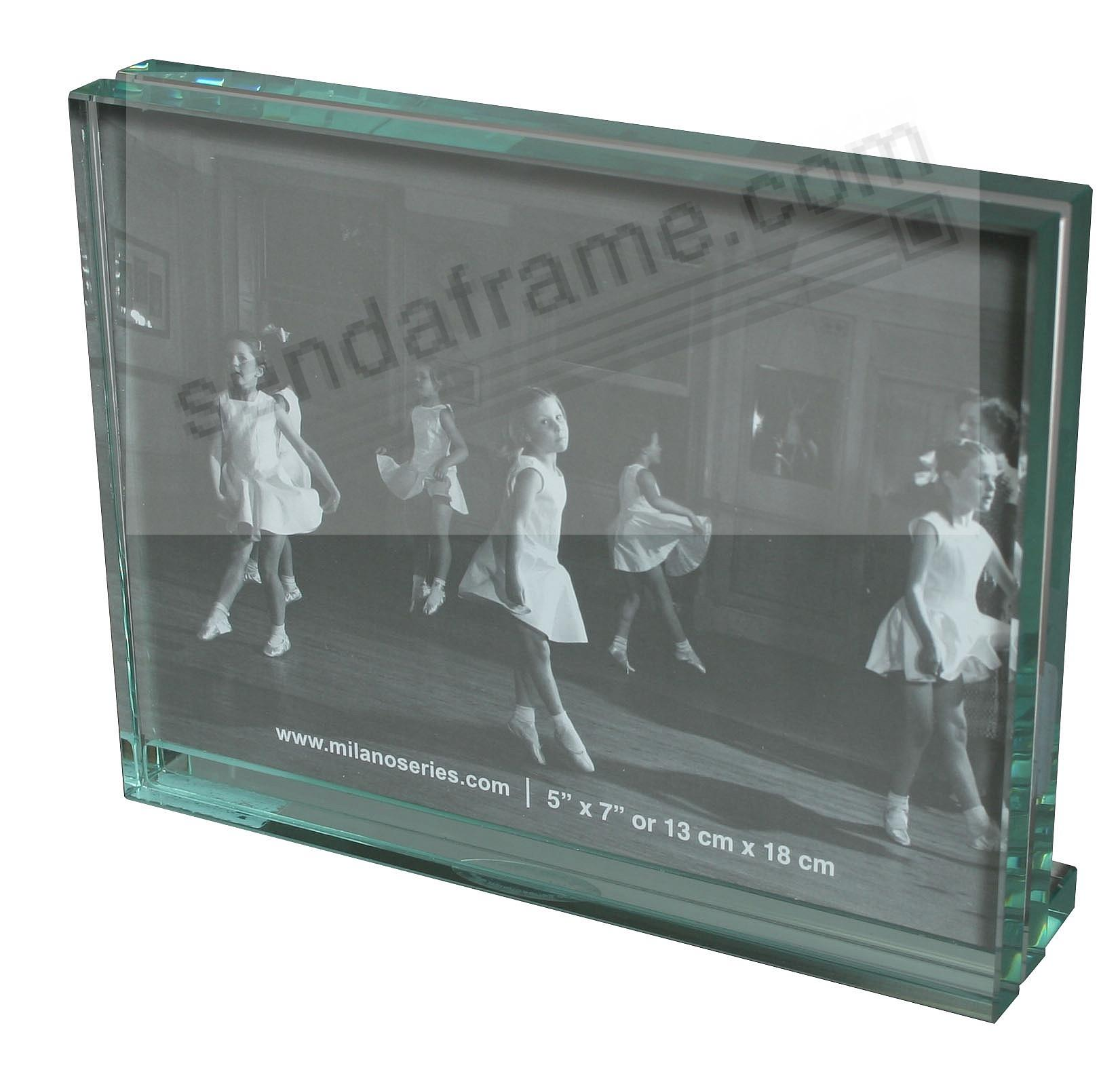 Clarity Glass Block 5x7 Frame By Milano Series Picture Frames