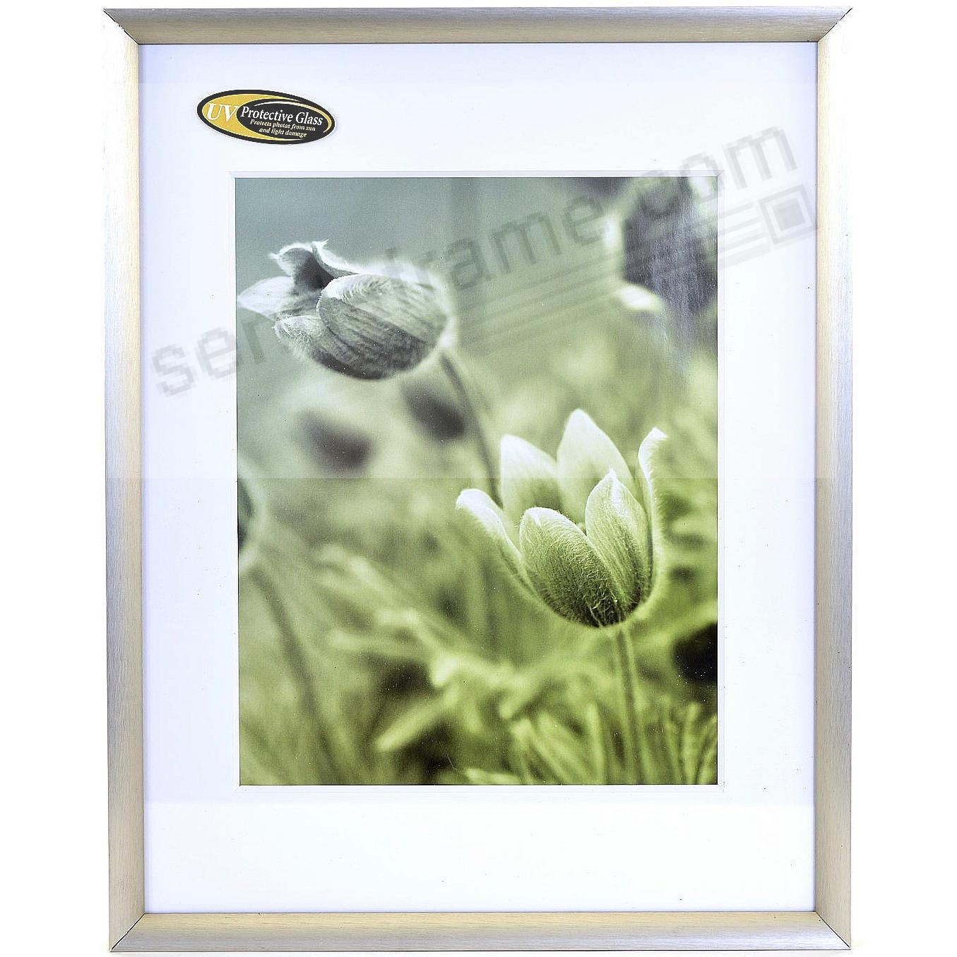 Satin German Silver Cosmopolitan Matted Metallic Frame 11x148x10