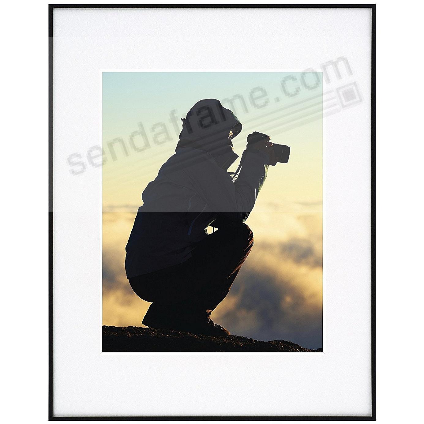 Photography Metallic Frame Black White Matted 11x14 8x10
