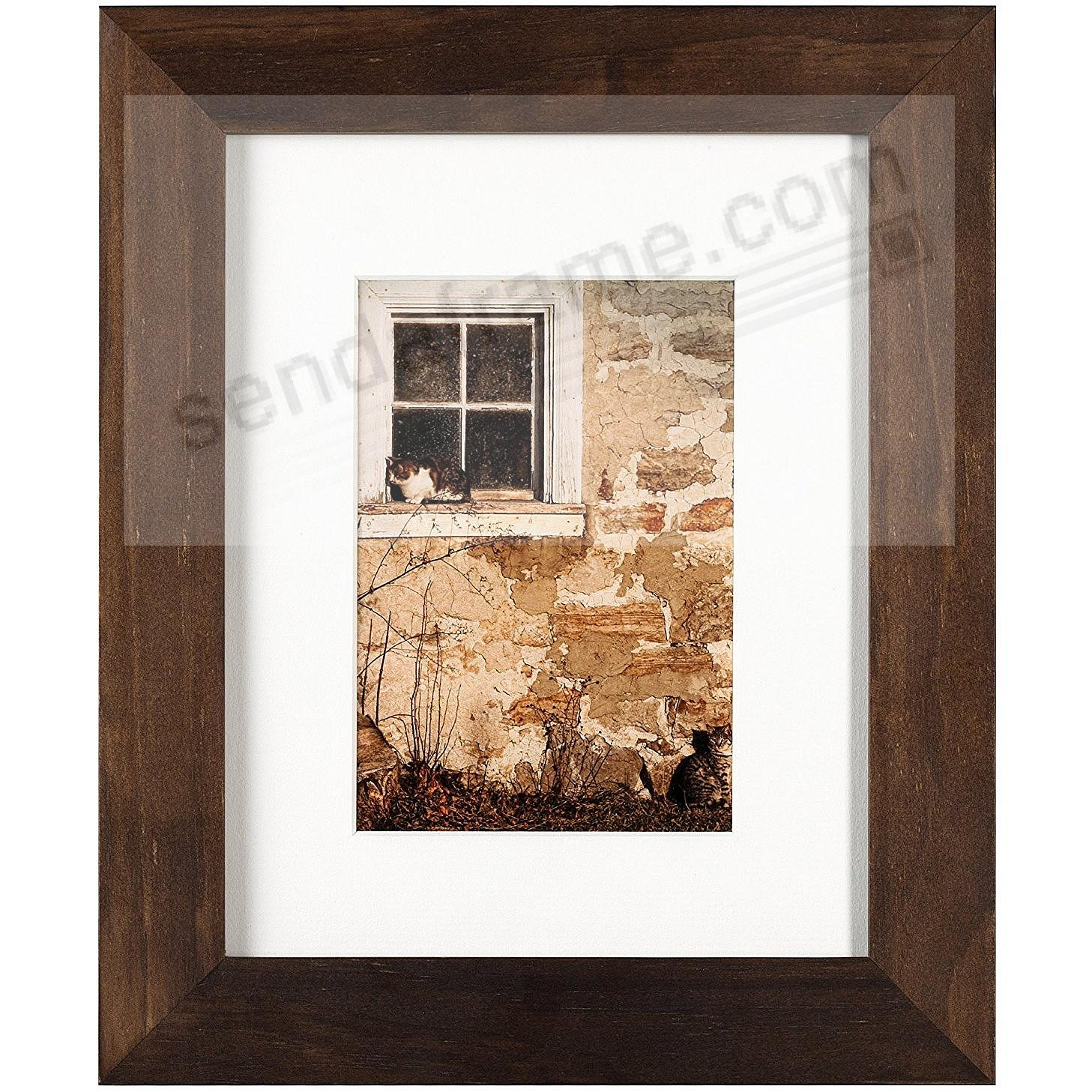 The Arcadia Collection Hazelnut Wood Frame Matted 8x105x7 From