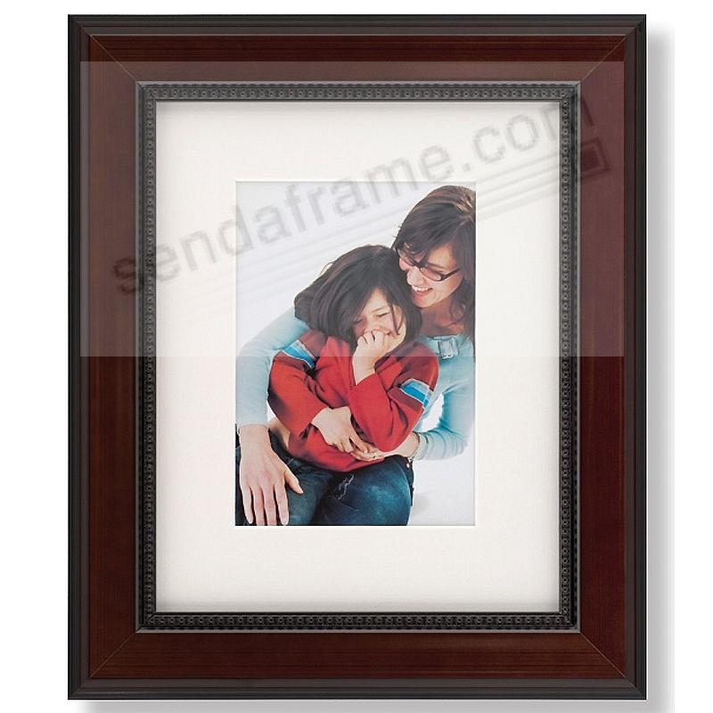 WALNUT-BROWN/Black CAMBRIDGE matted wood frame for an 11x14/16x20 ...