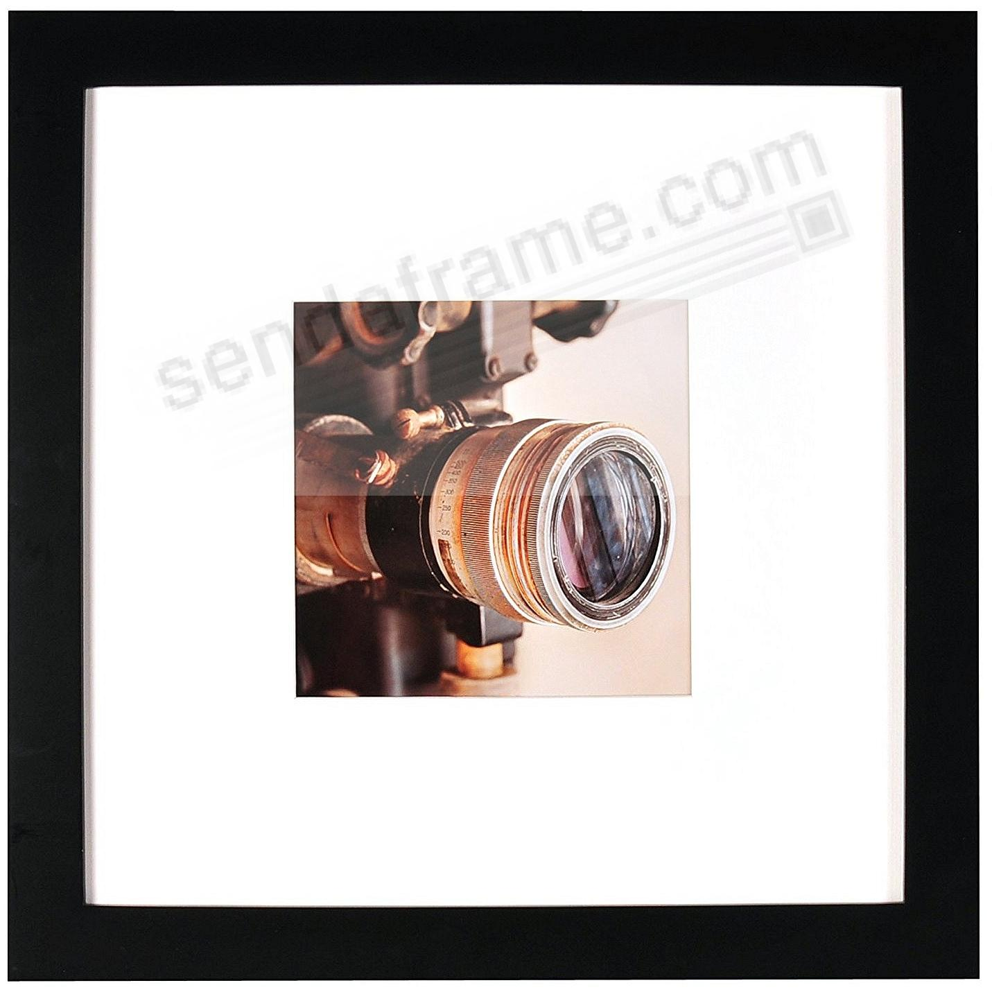 Matte-Black WOODBURY matted wood frame 16x16/8x8 from ARTCARE® by ...
