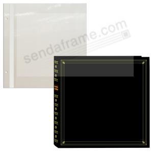 Pro Elite Black Magnetic Post Bound Page Album By Pioneer Picture