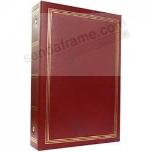 3 Ring 2 Up Slip In Pocket Burgundy Binder Album For 400 Photos