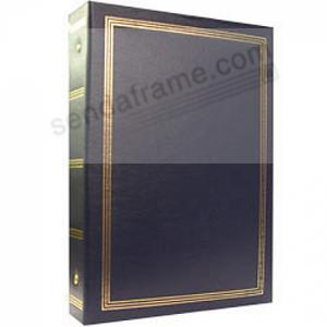 3 Ring 2 Up Slip In Pocket Navy Blue Binder Album For 400 Photos