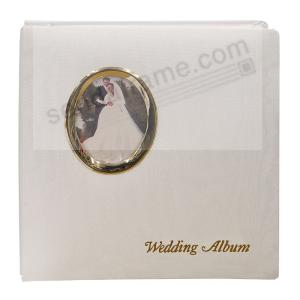 Golden Wedding Post Bound Pocket Album For 5x7 8x10 Prints W