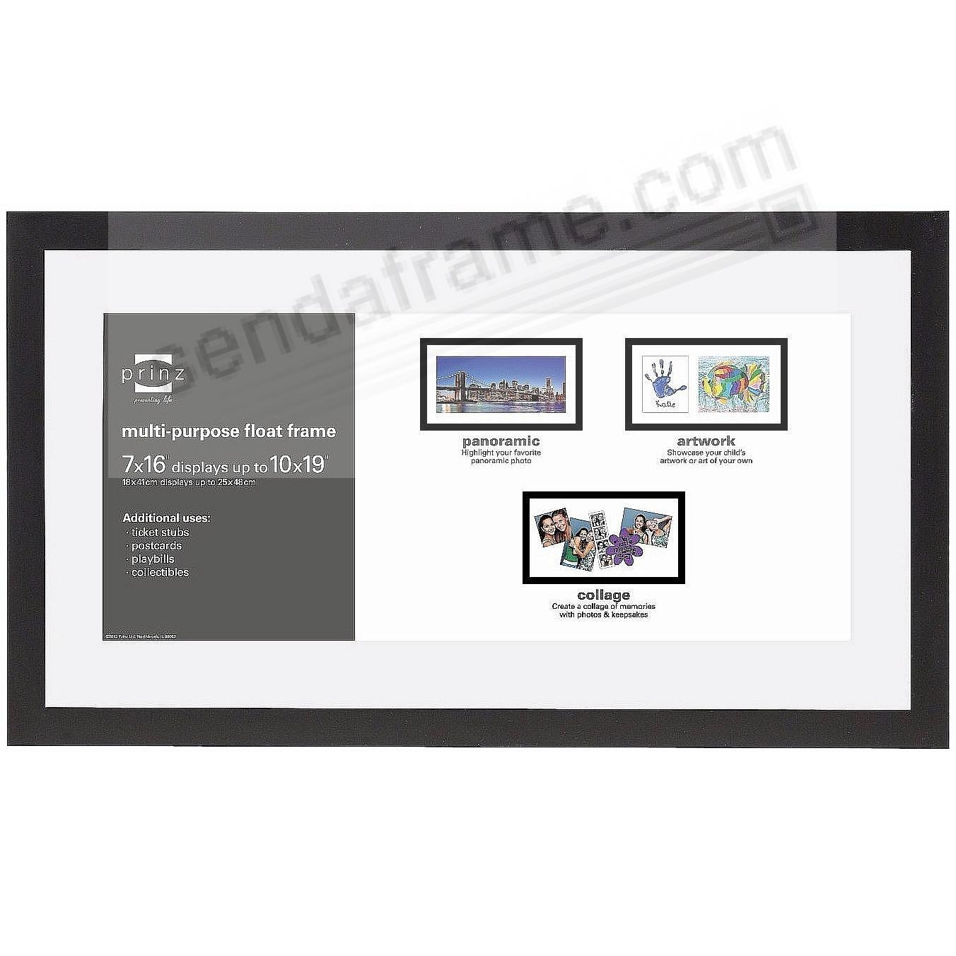 CROSBY Panoramic Float ebony-black frame 19x10/16x7 by Prinz USA ...