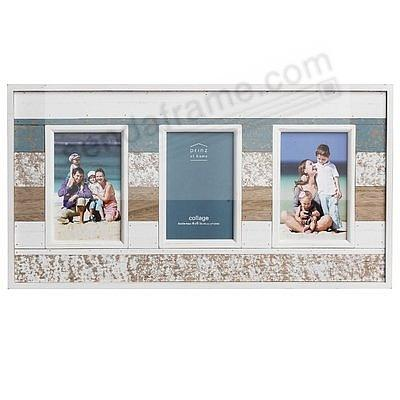 BOARDWALK Natural Pine Multi-Color Weathered-Wood Triple 4x6 frame ...