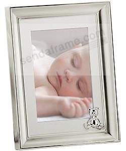 Teddy Bear Silverplated Baby Frame Picture Frames Photo Albums