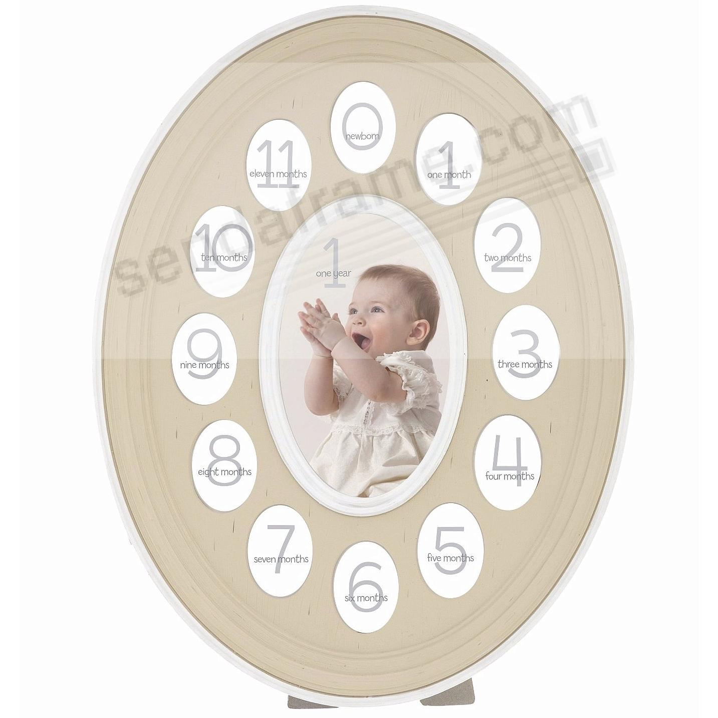 13-Opening Sweet Dreams Oval Natural w/ White Trim Baby Cast Resin ...