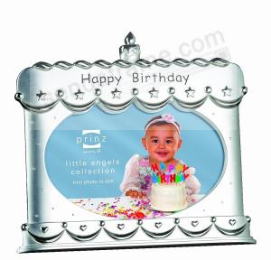 MAKE A WISH Silverplated Birthday Cake Frame By PrinzR
