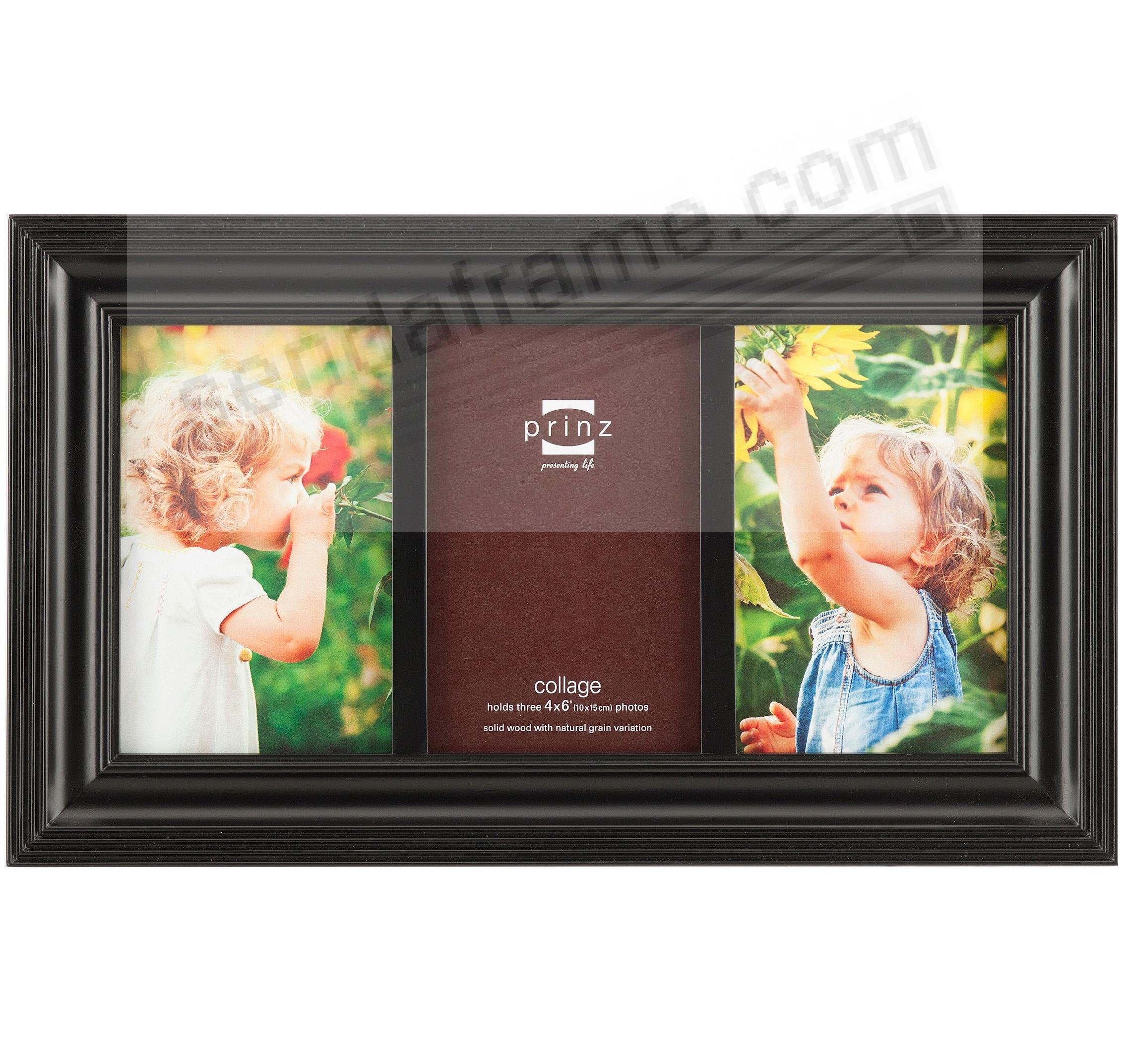 Eastman Ebony Black Ridged 3 Opening Collage Frame From