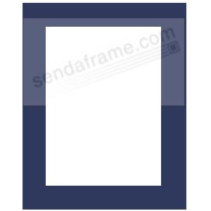 navy blue mat fits 11x14 frame displays 8x10 print picture frames photo albums. Black Bedroom Furniture Sets. Home Design Ideas