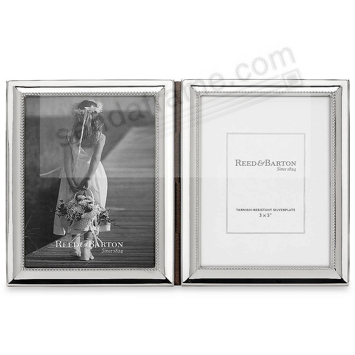 CAPRI Hinged Double Silverplate 3x5 frame by Reed & Barton ...