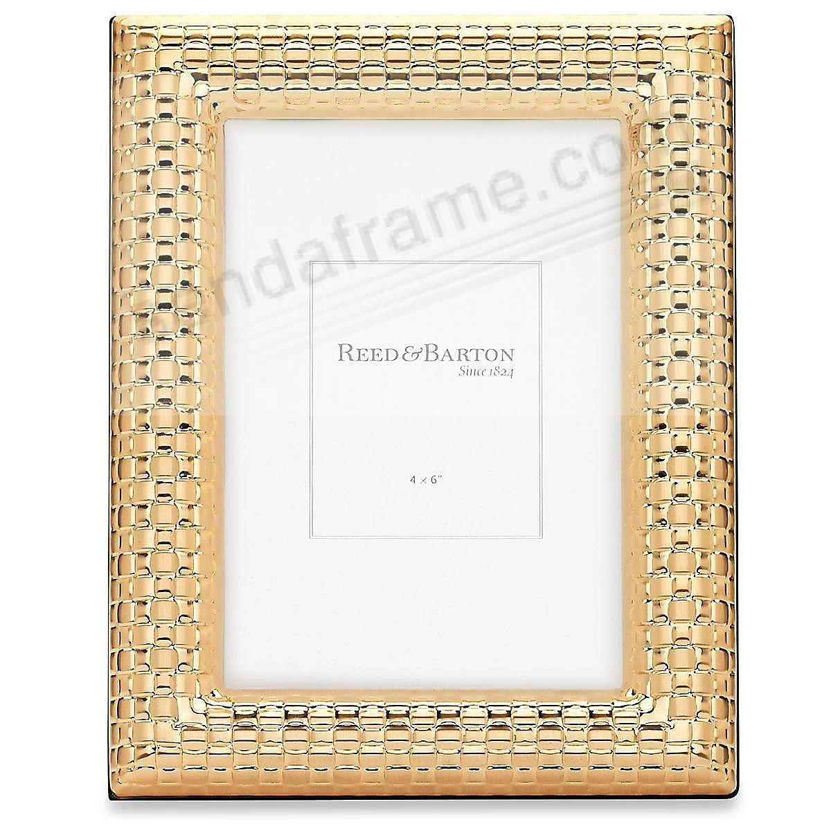 WATCHBAND Satin Gold 4x6 frame by Reed & Barton® - Picture Frames ...