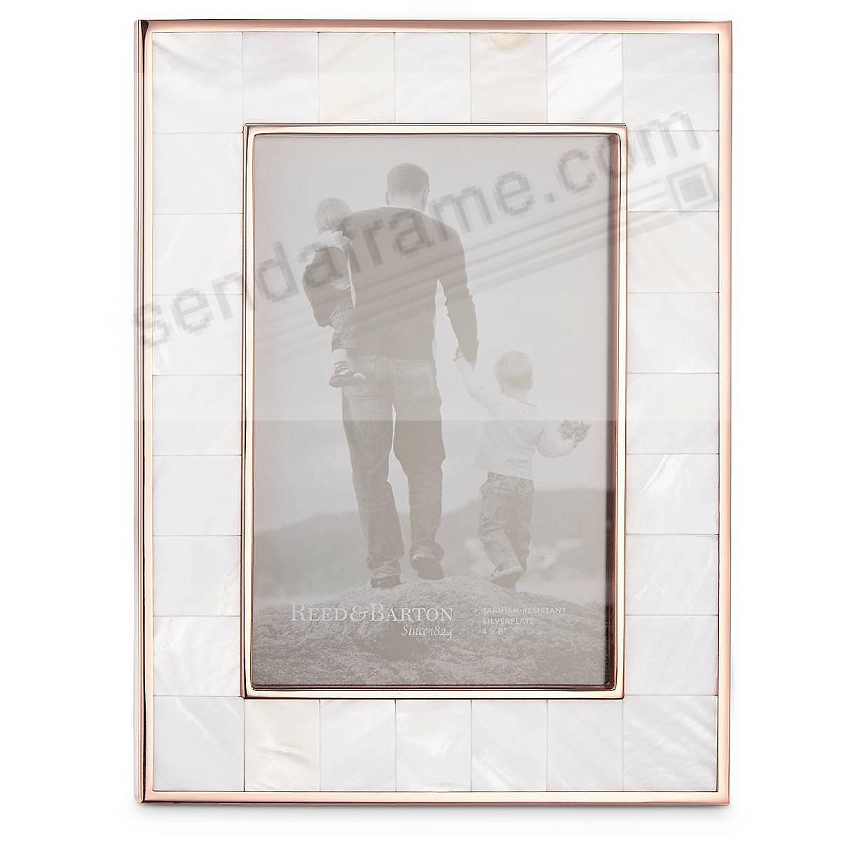 Mother Of Pearl Rose Gold Classic 4x6 Frame By Reed Barton