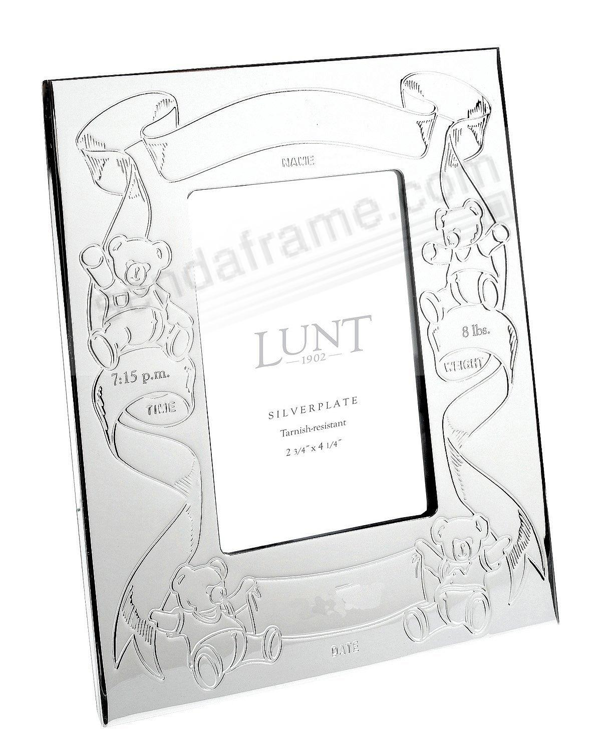 Silver Newborn Baby Birth Record By Lunt Silver Picture Frames