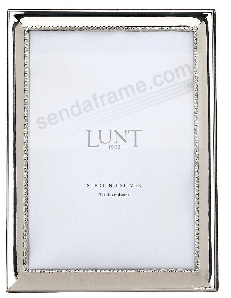 CAVIAR BEAD fine sterling silver 8x10 frame by Lunt Silversmiths ...