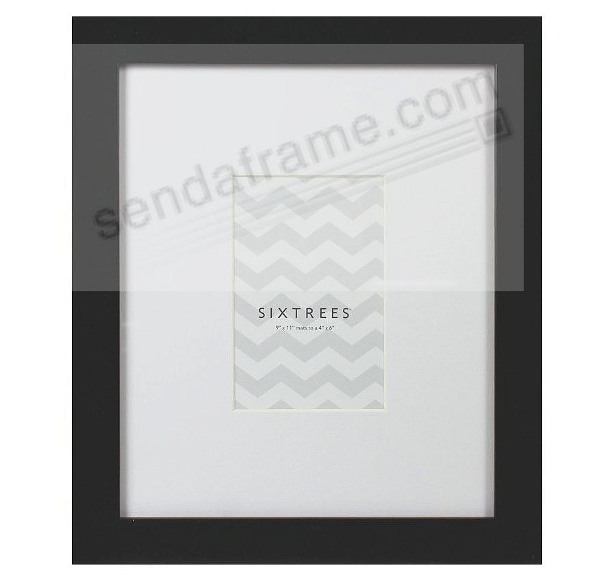 BLACK MATTED 4x6/9x11 frame by SIXTREES® - Picture Frames, Photo ...