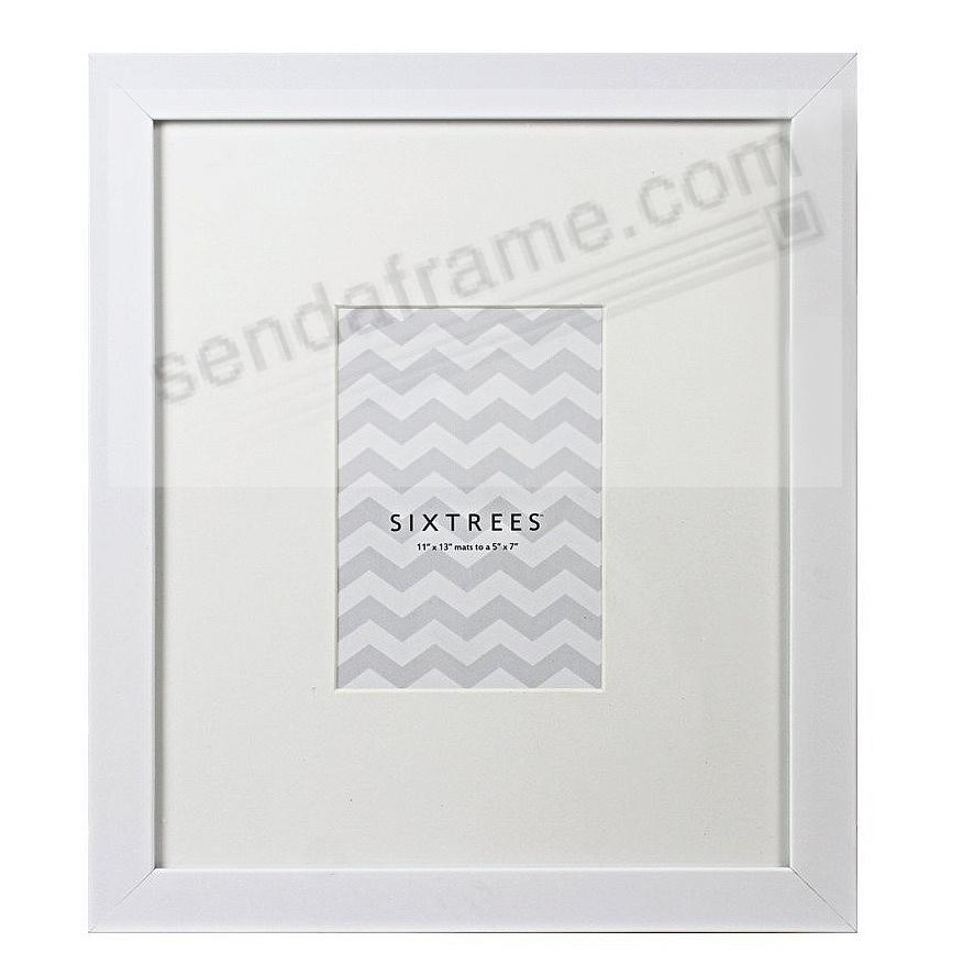 WHITE MATTED 11x13/5x7 frame by SIXTREES® - Picture Frames, Photo ...