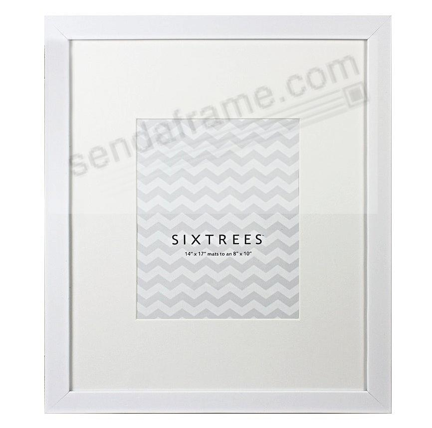 WHITE-WHITE MATTED 14x17/8x10 frame by SIXTREES® - Picture Frames ...