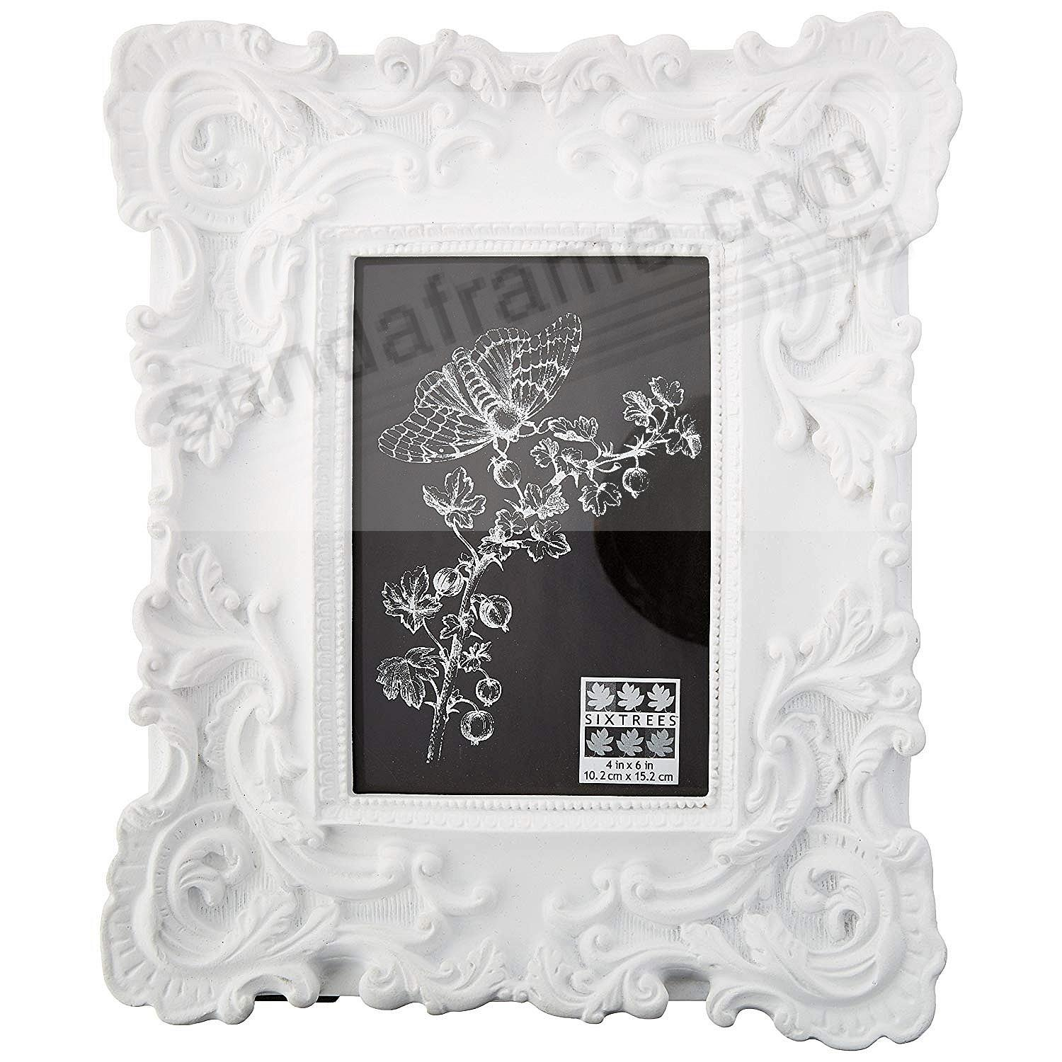 White BAROQUE frame by SIXTREES® - Picture Frames, Photo Albums ...