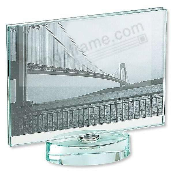 Glass Spinner For Horizontal 4x6 Prints Picture Frames Photo