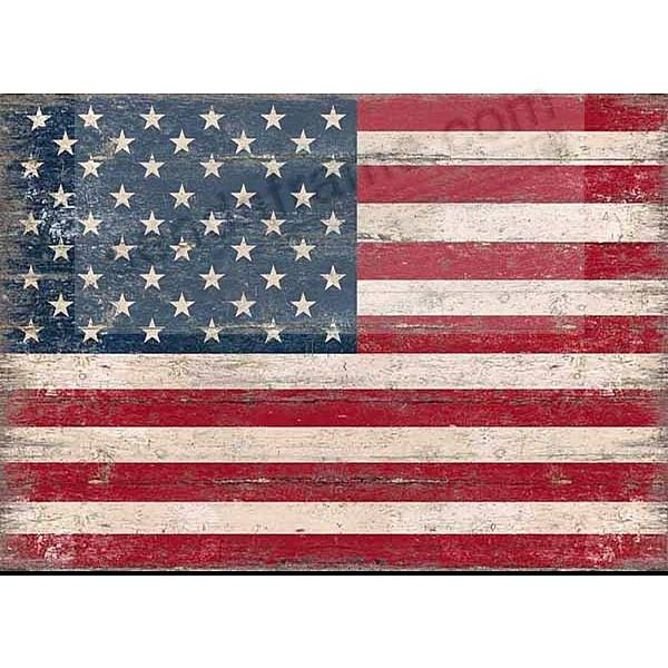 American Flag Wood 7x5 Box Sign By Sixtrees 174 Picture