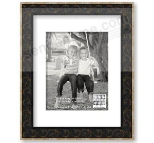 Brown Gold Scroll Pre Mat 8x10 11x14 By Sixtrees Picture Frames