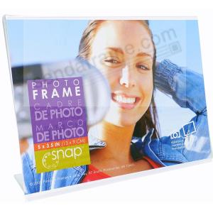 Ultra Clear Acrylic Bent L 5x3½ Frame By Snap Picture Frames