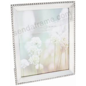 bead silverplate 8x10 frame by swing design picture frames photo albums personalized and engraved digital photo gifts sendaframe