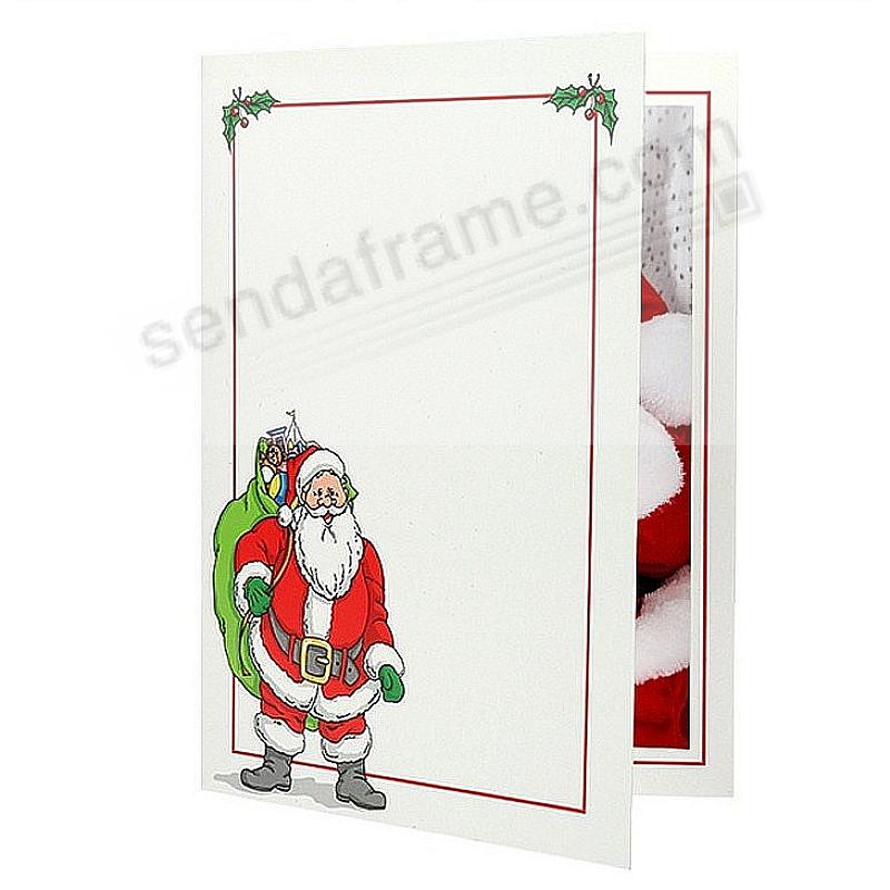 SANTA Photo Insert Holiday Folder Frame For 4x6 Prints