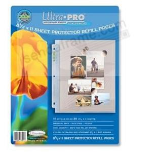 Genuine Ultrapro 3 Hole Photo Page 10ct Pack For 8½x11 Prints