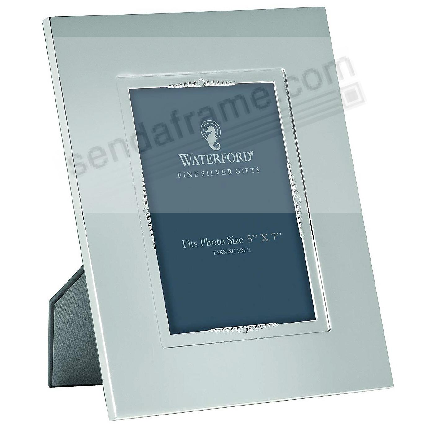 LISMORE BEAD patterned 5x7 silver frame by Waterford® - Picture ...