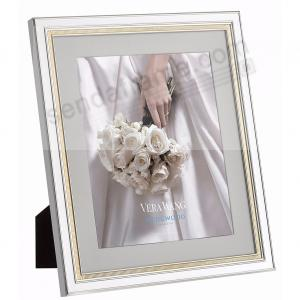 Chime Silvergold Matted 8x10 Frame By Vera Wang Picture Frames
