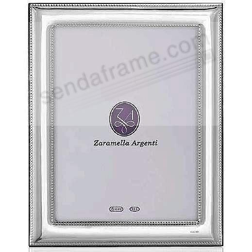 Luxurious Roma Double Beaded Border Sterling Silver Frame