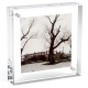 Lucite Desktop Photo Cube Frame for 5 photos