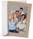 White Paper Cardstock Photo Easel 4x6 Frame w/plain border (sold in 25s)