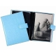 WHITE-WHITE pebble grain leather #168 window album with fold-out pages by Raika�