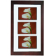 The original FLOAT and DOUBLE-SIDED 5x7/10x20 walnut stain flexible size wall frame