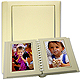 Professional PARADE white/gold slip-in mat photo album for 20 5x7 prints TAP�