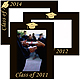 Celebrate your GRADUATION with our engraved 8x10 frame in black hardwood