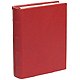 Standard 3-ring Traditional Red Leather Clear Pocket Albumby Graphic Image�