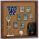 Indoor MEMORABILIA CASE - Walnut wood with cork backing
