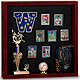 Indoor MEMORABILIA CASE in fine cherry wood w/ black cork backing